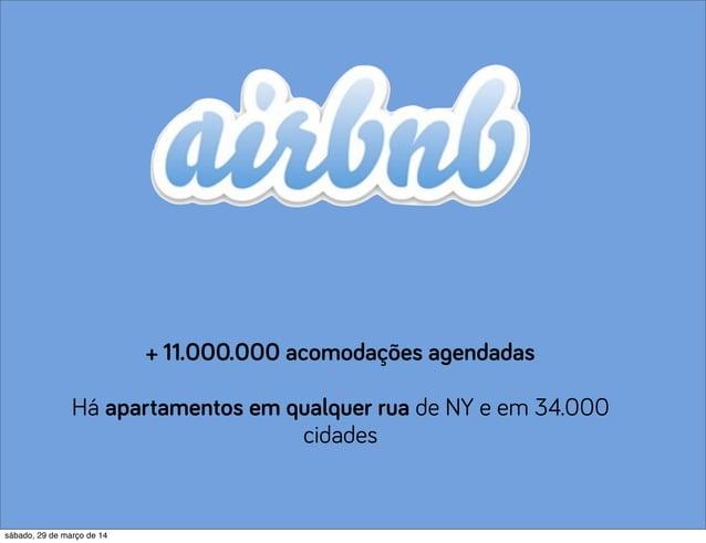 + 11.000.000 acomodações agendadas Há apartamentos em qualquer rua de NY e em 34.000 cidades sábado, 29 de março de 14