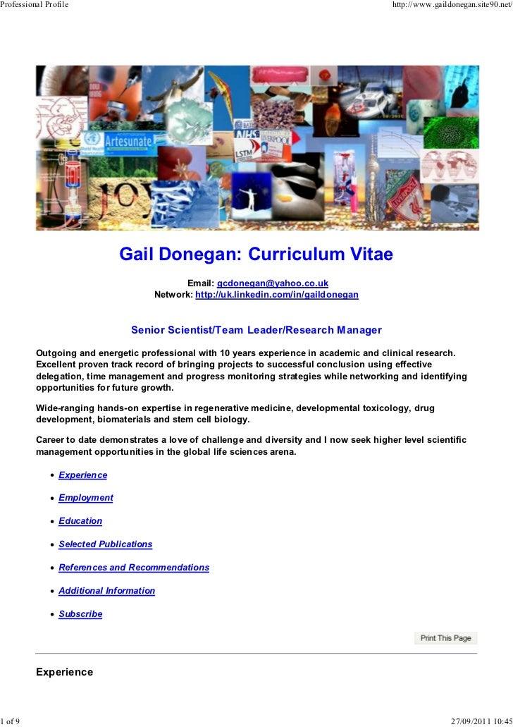 Professional Profile                                                                        http://www.gaildonegan.site90....