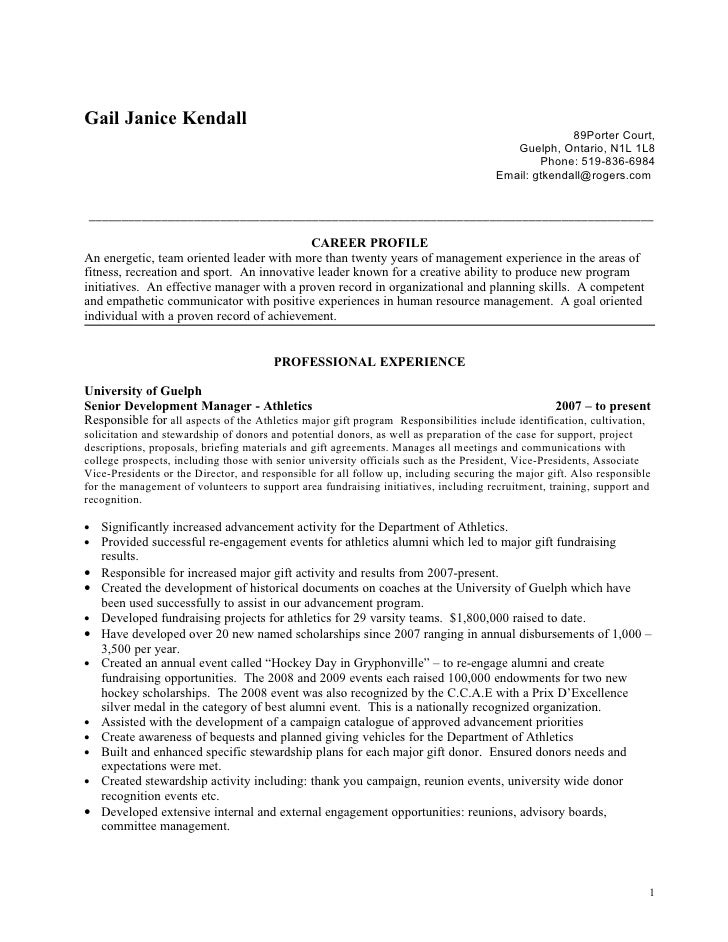 Gail Janice Kendall  Current 1 Resume