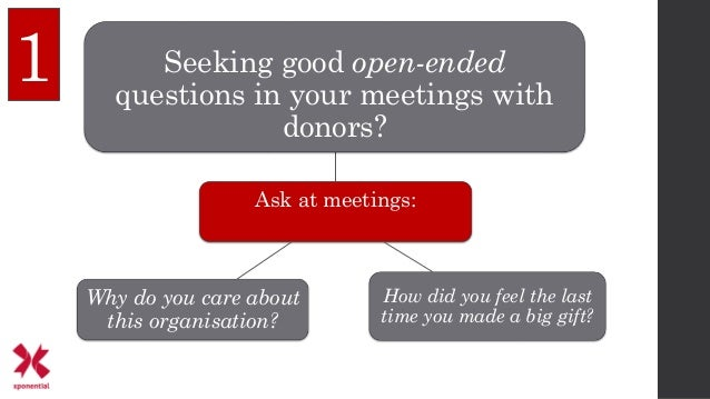 Ask at meetings: Seeking good open-ended questions in your meetings with donors? How did you feel the last time you made a...