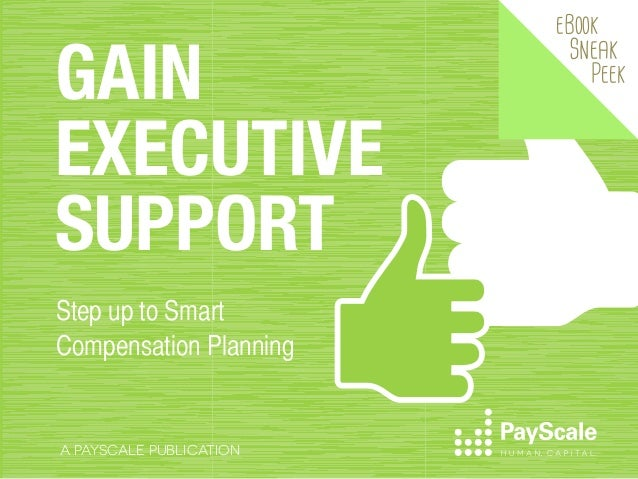GAIN EXECUTIVE SUPPORT Step up to Smart Compensation Planning  A PAYSCALE PUBLICATION  eBook  Sneak  Peek