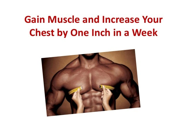 Gain Muscle and Increase Your Chest by One Inch in a Week