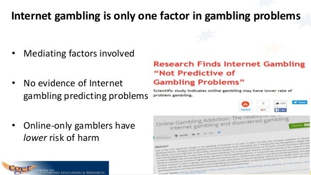 Problems associated with internet gambling symbols of gambling