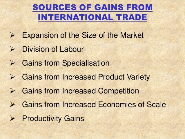 gains from trade comparative advantage