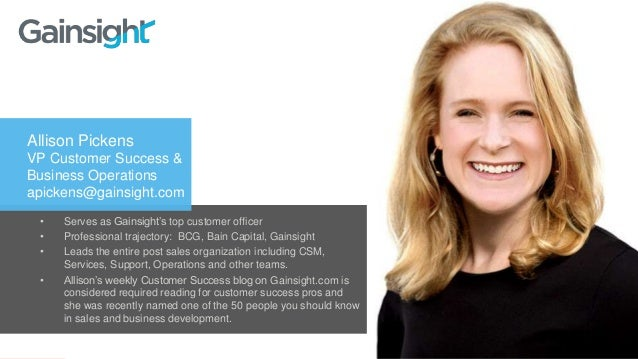 www.tsia.com • Serves as Gainsight's top customer officer • Professional trajectory: BCG, Bain Capital, Gainsight • Leads ...