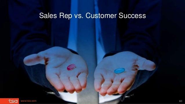 www.tsia.com Sales Rep vs. Customer Success 60
