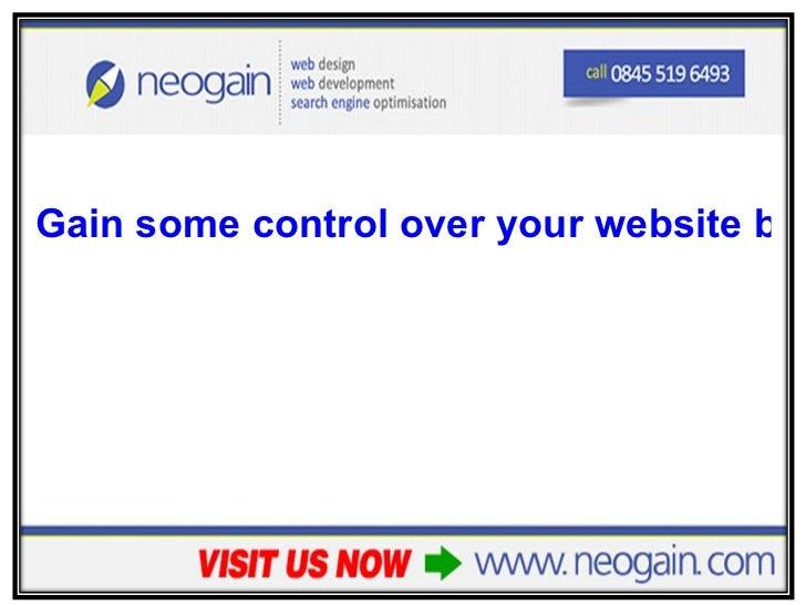 <ul><li>Gain some control over your website backlinks </li></ul>