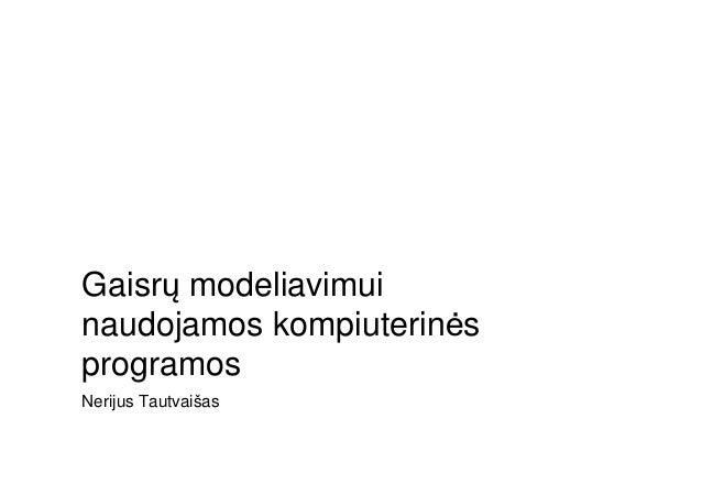 Nerijus Tautvaišas Gaisrų modeliavimui naudojamos kompiuterinės programos