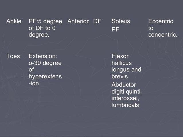 DETERMINANTS OF GAITDETERMINANTS OF GAIT 1)1) Pelvic rotationPelvic rotation::  Forward rotation of the pelvis in the hor...