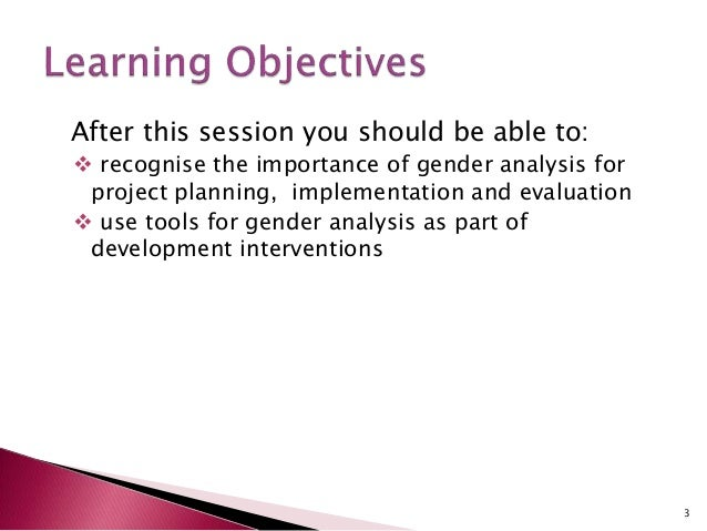 gender analysis Gender analysis tools some useful definitions for gender analysis gender: refers to socially constructed roles and responsibilities of women and men, and includes.