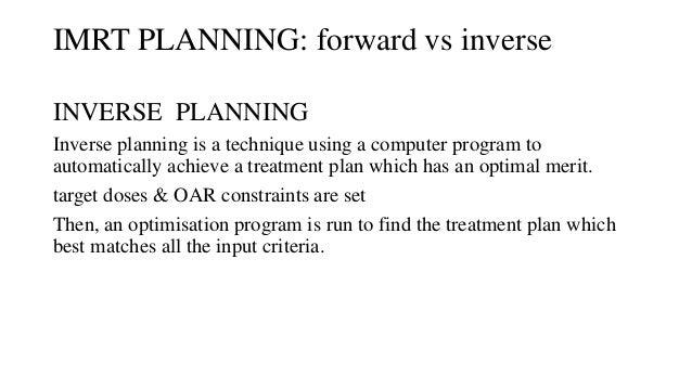Forward plan IMRT