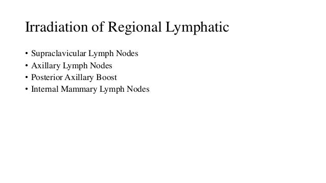 SCF L.N IRRADIATION Indications of RT to Supraclavicular group: • N2 or N3 disease • >4 positive lymph nodes after axilla...