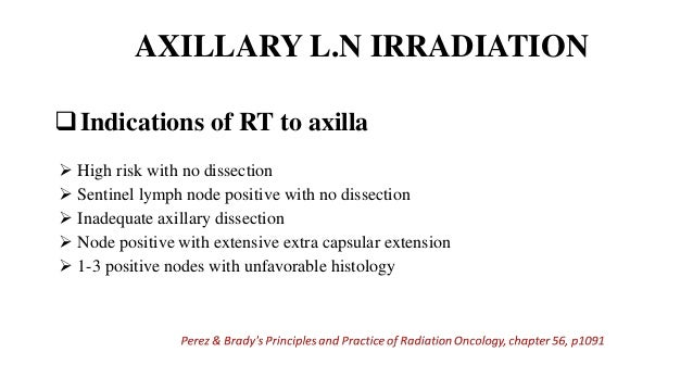 Perez & Brady's Principles and Practice of Radiation Oncology, chapter 56, p1091  Level I & portion of level II nodes inc...