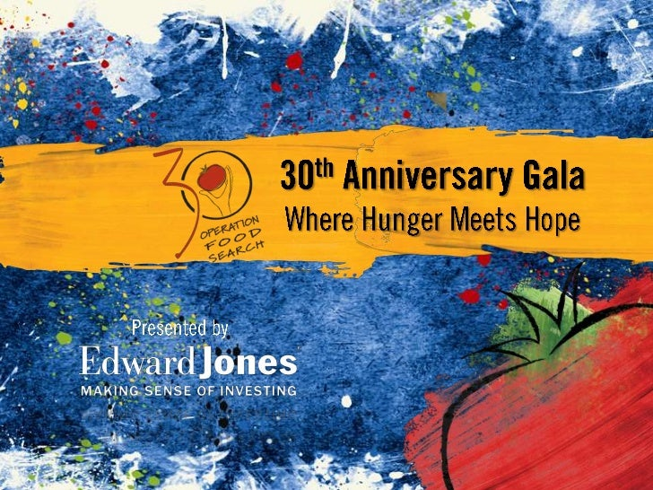30th Anniversary Gala<br />Where Hunger Meets Hope<br />Presented by<br />