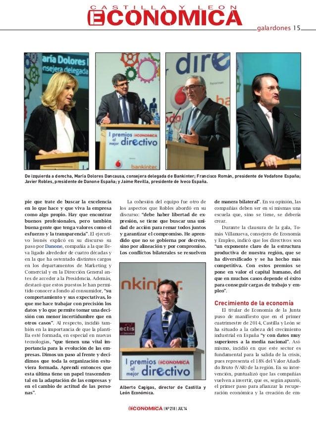 Gala I Premios Castilla y León Económica al Mejor Directivo Slide 2