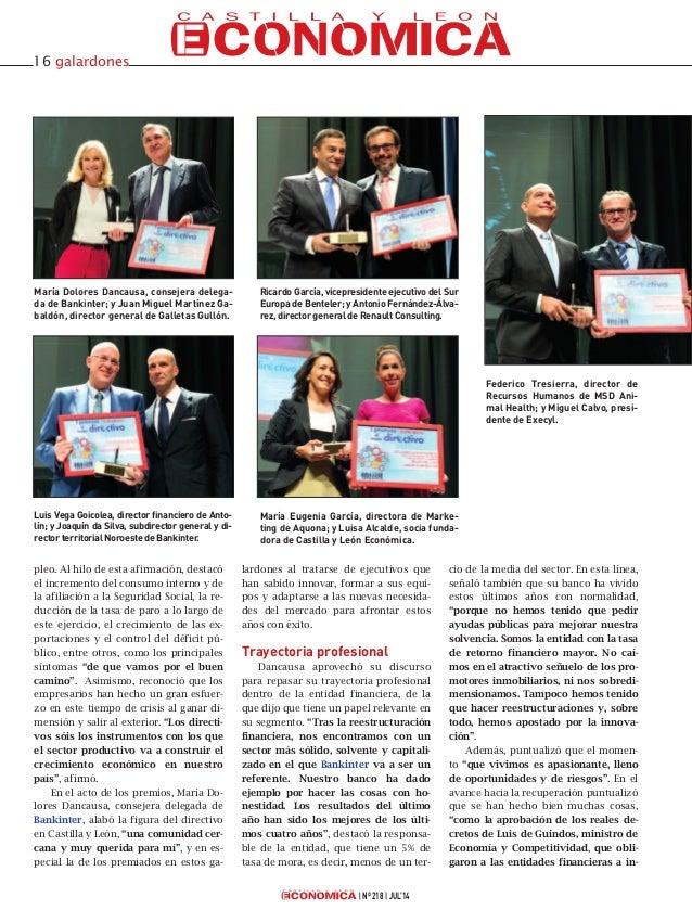 Gala I Premios Castilla y León Económica al Mejor Directivo Slide 3