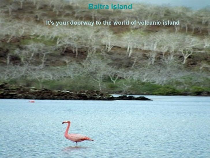 Baltra IslandIts your doorway to the world of volcanic island