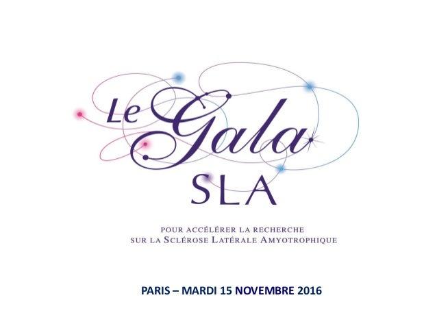 PARIS – MARDI 15 NOVEMBRE 2016