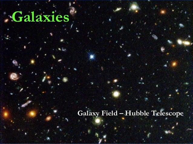 Galaxies  Galaxy Field – Hubble Telescope