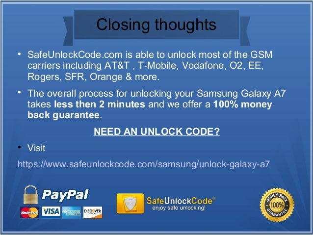 How to unlock Samsung Galaxy A7 by code