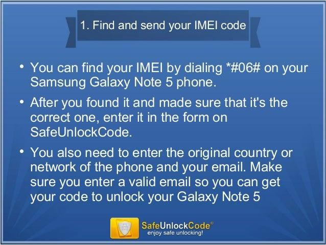 unlocking galaxy note 5
