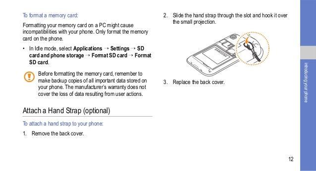 Samsung Galaxy S User Manual – User Manual Format