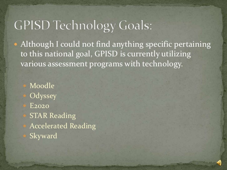 Galena park isd technology plan and the national ...