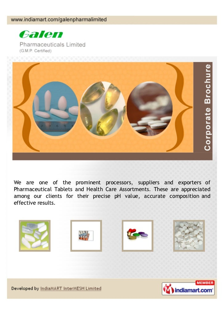We are one of the prominent processors, suppliers and exporters ofPharmaceutical Tablets and Health Care Assortments. Thes...