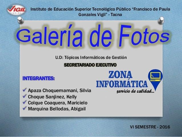 """Instituto de Educación Superior Tecnológico Público """"Francisco de Paula Gonzales Vigil"""" - Tacna U.D: Tópicos Informáticos ..."""