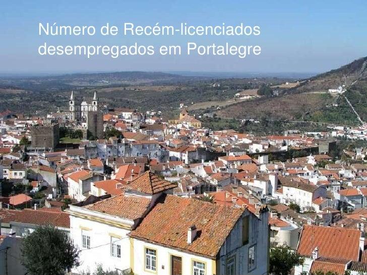 Número de Recém-licenciados desempregados em Portalegre<br />