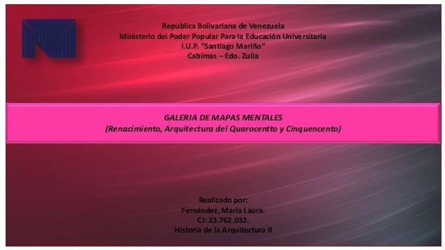 """Republica Bolivariana de Venezuela Ministerio del Poder Popular Para la Educación Universitaria I.U.P. """"Santiago Mariño"""" C..."""