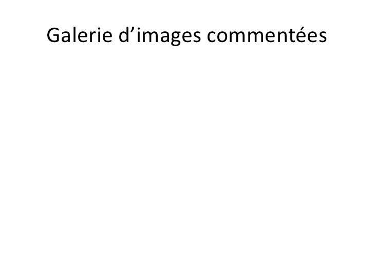 Galerie d'images commentées