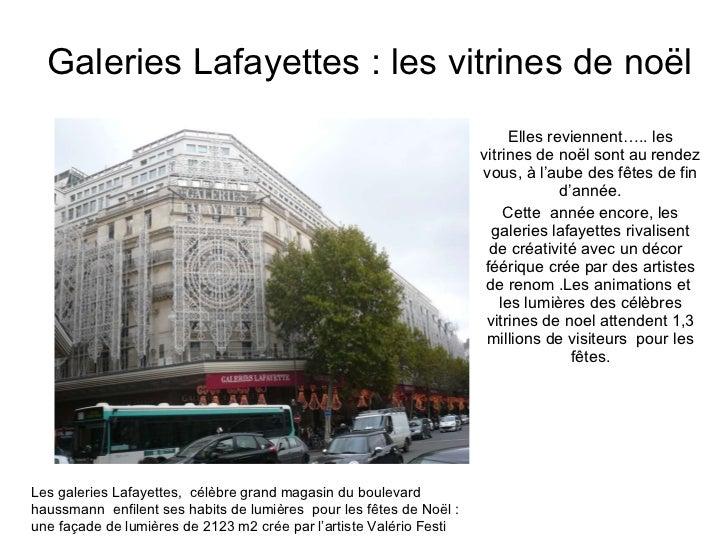 Galeries Lafayettes : les vitrines de noël Elles reviennent….. les vitrines de noël sont au rendez vous, à l'aube des fête...