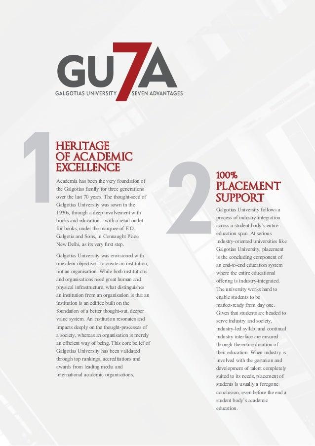 Galgotias university 2014 Prospectus