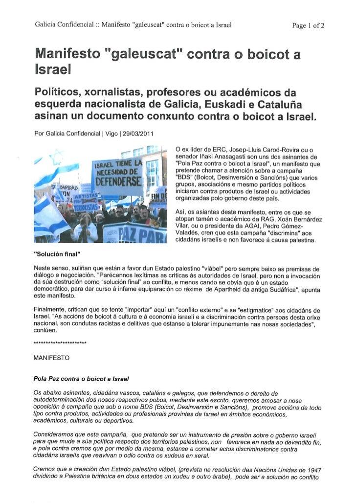 Galicia Confidencial . 29.03.2011