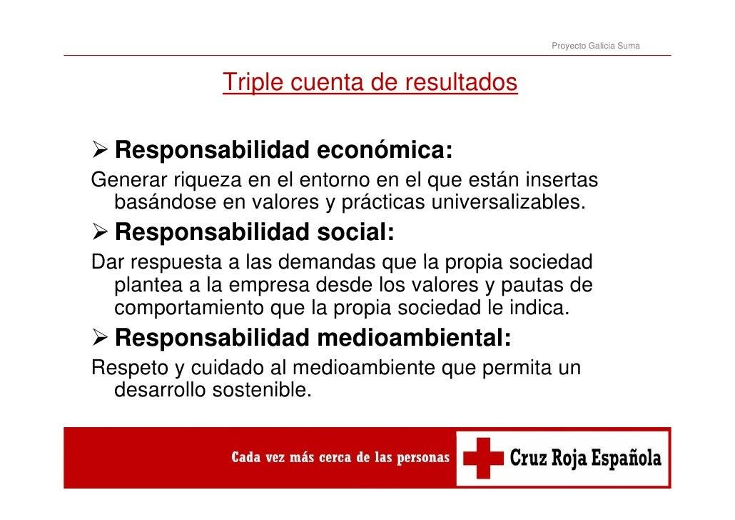 Proyecto Galicia Suma              Triple cuenta de resultados  Responsabilidad económica:  R       bilid d     ó iGenerar...