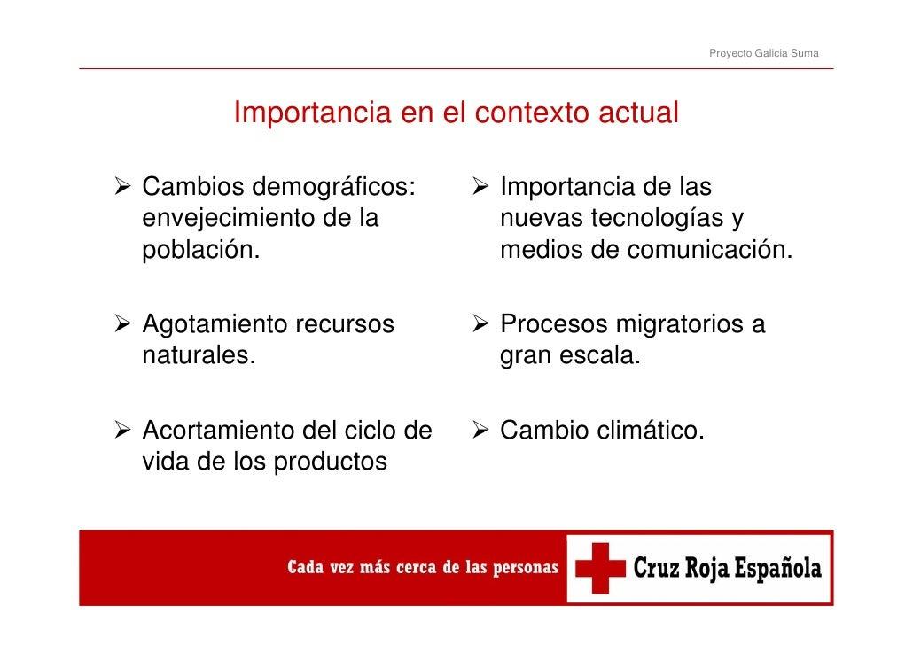Proyecto Galicia Suma       Importancia en el contexto actual       I    t   i      l    t t     t lCambios demográficos: ...