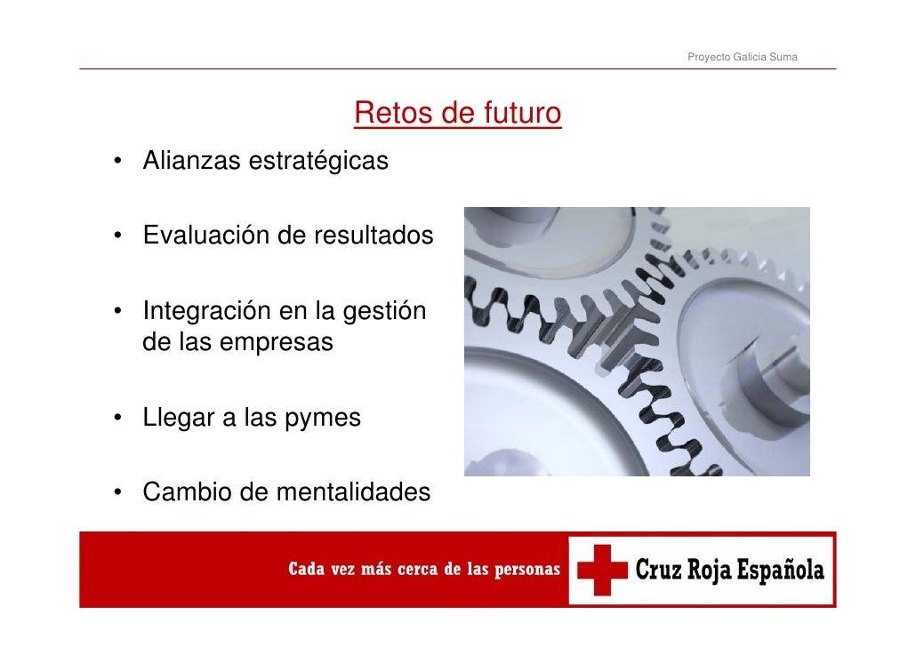 Proyecto Galicia Suma                    Retos de futuro                    R t d f t• Alianzas estratégicas• Evaluación d...