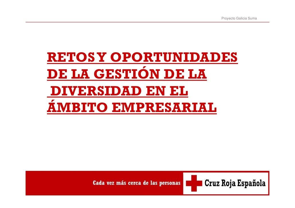 Proyecto Galicia SumaRETOS Y OPORTUNIDADESDE LA GESTIÓN DE LADIVERSIDAD EN ELÁMBITO EMPRESARIAL
