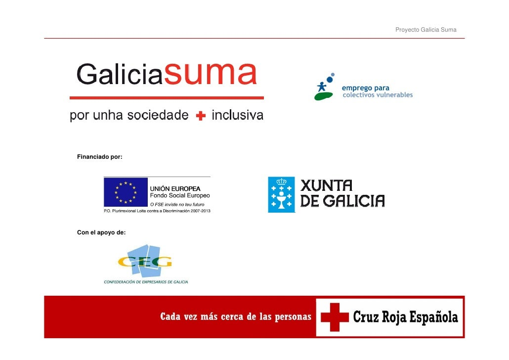 Proyecto Galicia SumaFinanciado por:Con el apoyo de: