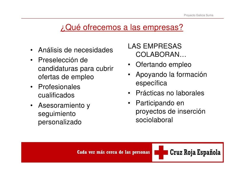 Proyecto Galicia Suma         ¿Qué ofrecemos a las empresas?                             LAS EMPRESAS• Análisis de necesid...