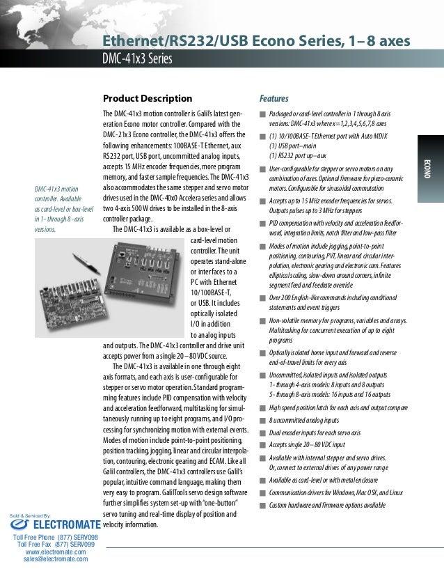 Galil dmc41x3 catalog
