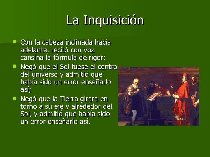 La Inquisición <ul><li>Con la cabeza inclinada hacia adelante, recitó con voz cansina la fórmula de rigor: </li></ul><ul><...