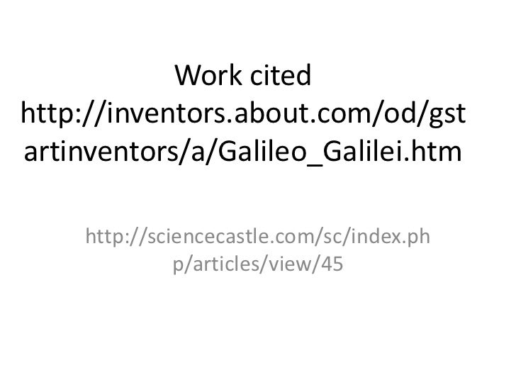 outline on galileo galilei Galileo's sentencing to prison galileo galilei was born in chapter outline intermediate sanctions • most often used for offenders.