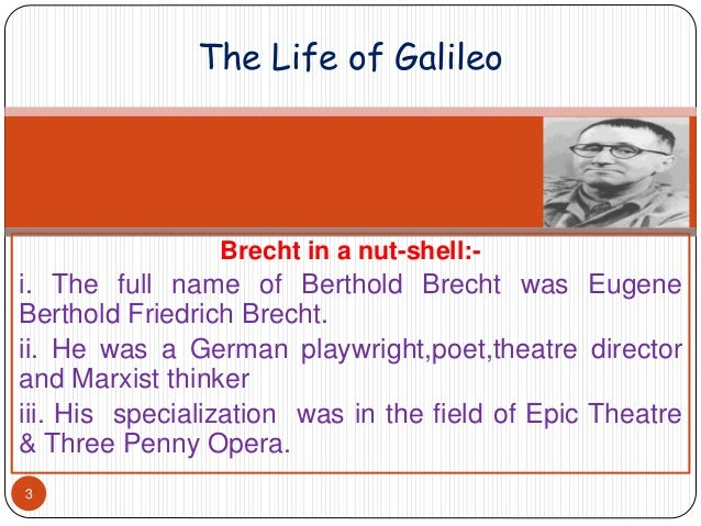 Galileo galilei brecht