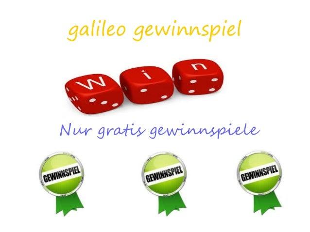 Galileo Gewinnspiel