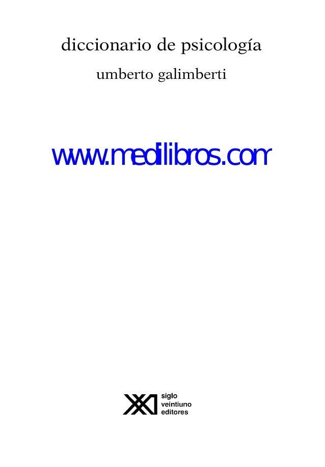 diccionario de psicologia umberto galimberti pdf gratis