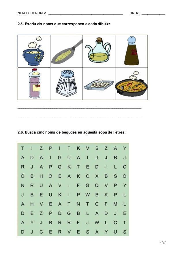 NOM I COGNOMS: ______________________________________ DATA: ____________  100  2.5. Escriu els noms que corresponen a cada...