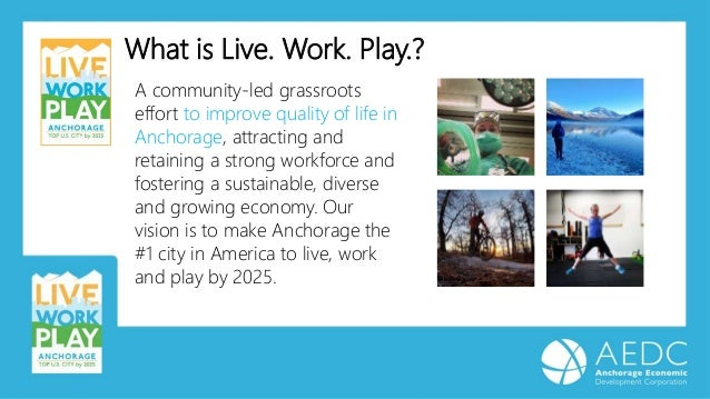 What is Live. Work. Play.? A community-led grassroots effort to improve quality of life in Anchorage, attracting and retai...