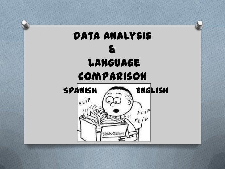 Data Analysis        &     Language   ComparisonSpanish     English